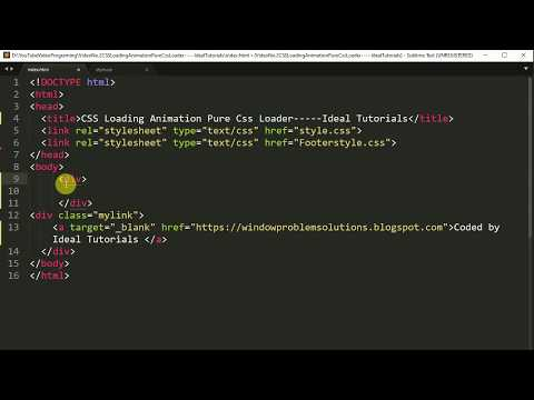 Pure Css Amazing Loading Animation Using Only HTML & CSS