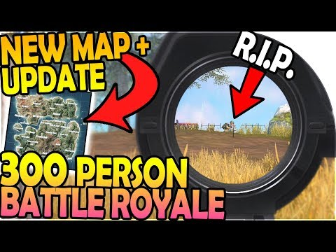 NEW UPDATE + NEW MAP - *300 PERSON* BATTLE ROYALE ( Rules of Survival Battle Royale Gameplay )