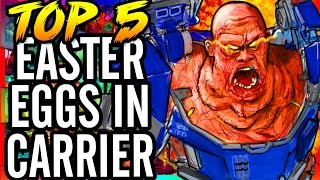 Top 5 Easter Eggs on Carrier/Easter Egg Steps & Small Easter Eggs  ~ Exo-Zombies Supremacy Gameplay!