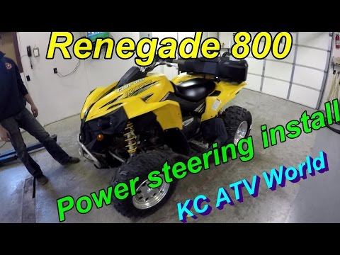 "CAN-AM RENEGADE 800 ""EZ Steer"" Power Steering kit Installation"