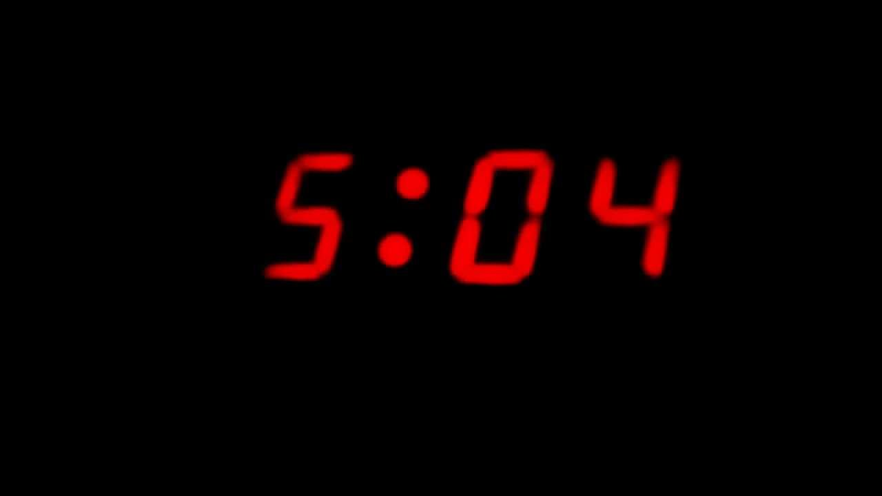 alarm clock 5am. timelapse digital clock from 5am to 6am alarm c