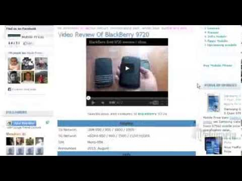 blackberry 9720 Price And Specification