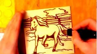 ВЫЖИГАНИЕ+МАСТЕР КЛАСС +лошадка+燃烧+主流+马+BURNING+MASTER CLASS +выжигание по дереву лошадя