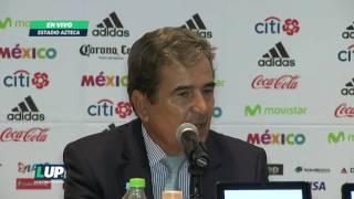 Jorge Luis Pinto habló en conferencia de prensa tras la derrota ante el Tri