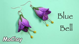 How to make a Campanula Flower (Blue bell) - Polymer clay ea...