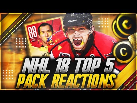 """NHL 18 HUT: """"TOP 5 PACK OPENING REACTIONS OF THE WEEK"""" (INSANE PULLS)"""