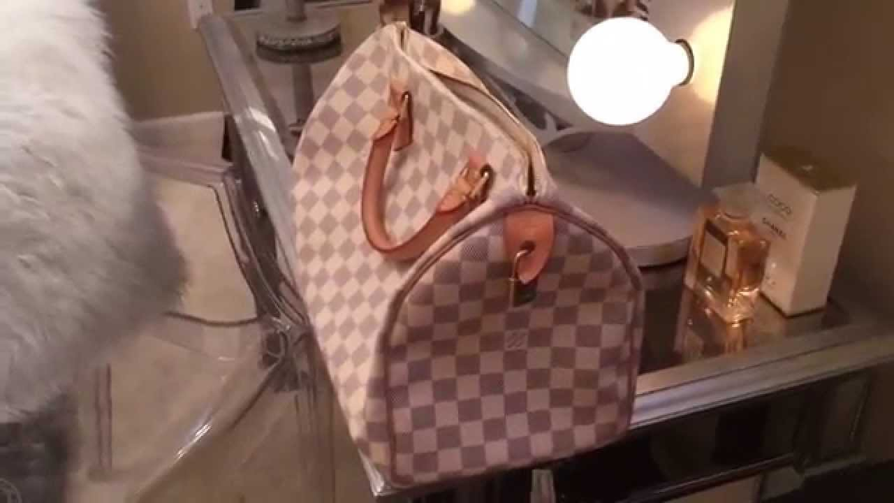 dfaf59cb7df3 Louis Vuitton Speedy 30 Damier Azur👜 - YouTube
