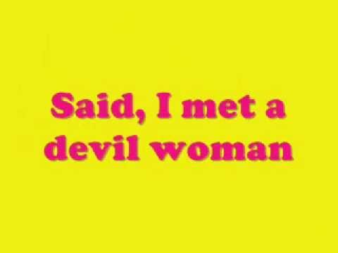 BRUCE WILLIS  DEVIL WOMAN LYRICS.