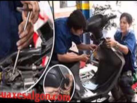 Trung tâm sơn sửa xe Sài Gòn, sửa xe tay ga - mô tô - xe số, sơn xe máy các loại
