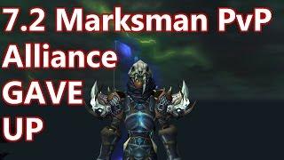 WoW - 7.2 Marksman Hunter PvP - Alliance GAVE UP - Battleground w/Commentary