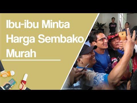 Kunjungan ke Purwokerto, Sandiaga: Ibu-ibu Minta Harga Sembako Murah Mp3