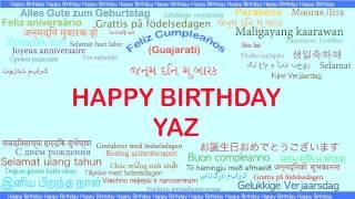 Yaz   Languages Idiomas - Happy Birthday