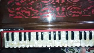 ae mere humsafar full notes on harmonium keyboard