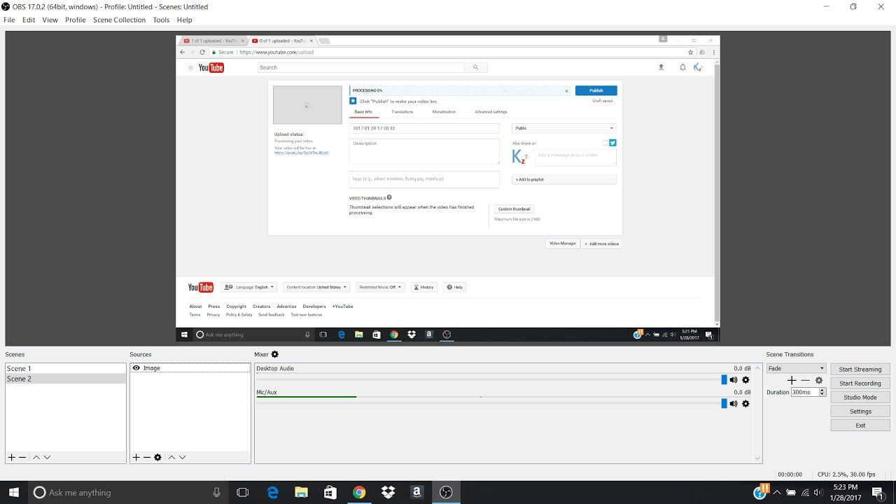 how to create profiles in obs