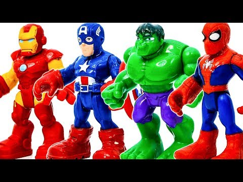 Avengers Superhero Toys Appeared Defeat Witch & Villains To Save The City #Toymarvel