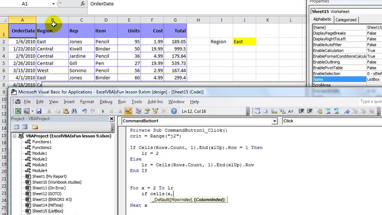 Excel VBA ActiveX Series #7 ListBox - Custom Fill A Listbox Any Way You  Want - YouTube