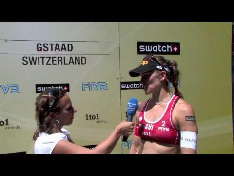 Beachvolleyball in Gstaad - Interview mit Beachvolleyball