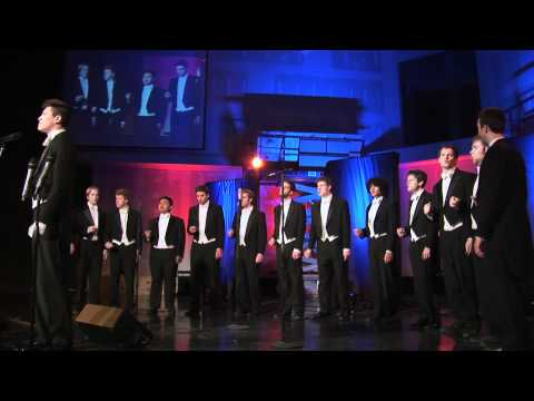 """Stephen performing """"Ordinary People"""" with                              The Whiffenpoofs                              ."""