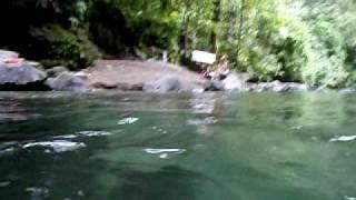 nadando num aquario natural-Cascata La Fortuna-Costa Rica