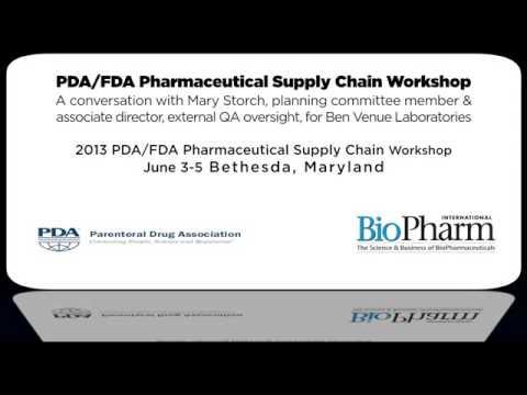 2013 PDA/FDA Pharmaceutical Supply Chain Workshop