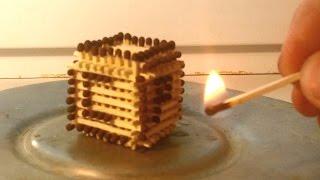 СДЕЛАЛ КУБИК ИЗ СПИЧЕК И ПОДЖЕГ ЕГО!! Burning match cube