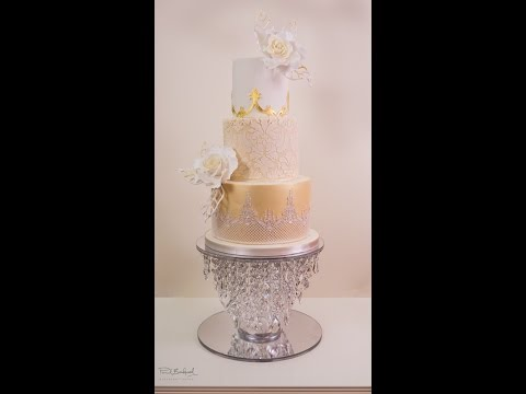 Golden Damask Rose Wedding Cake Preview | Paul Bradford Sugarcraft School