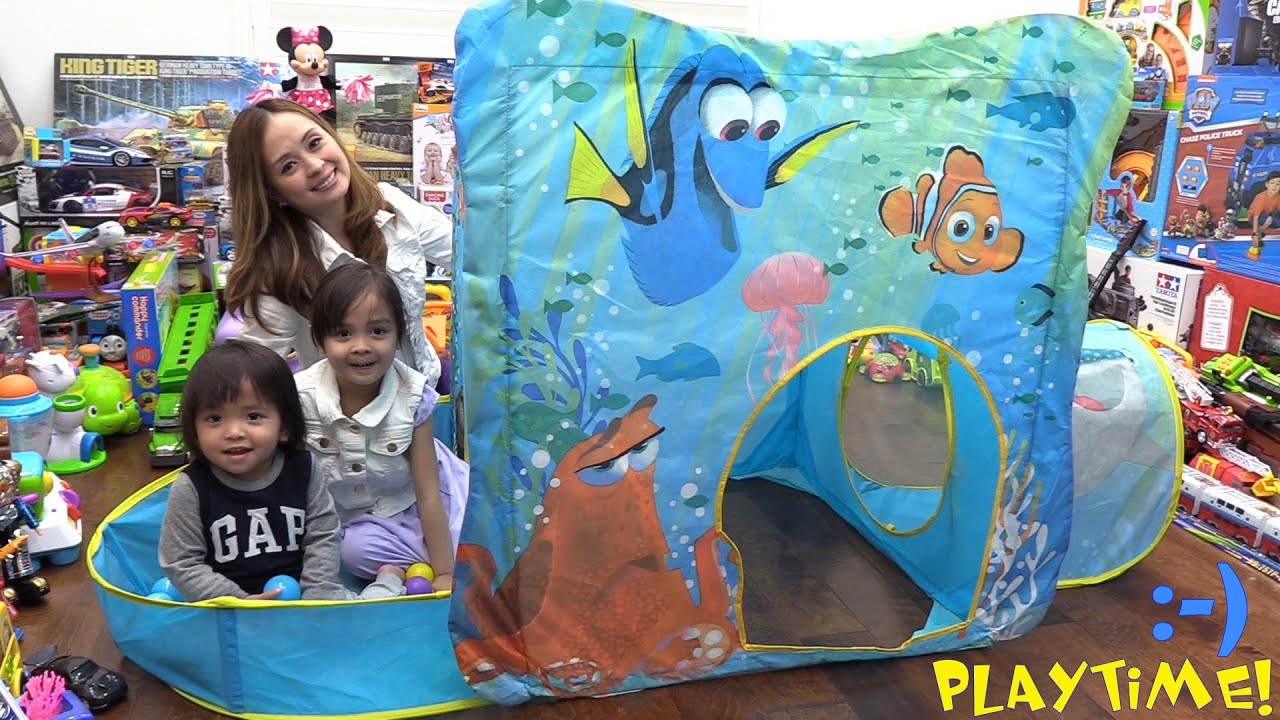 Disney Pixar Finding Dory Explore and Play Tent by Playhut. Unboxing and Playtime Fun! - YouTube  sc 1 st  YouTube & Disney Pixar Finding Dory Explore and Play Tent by Playhut ...