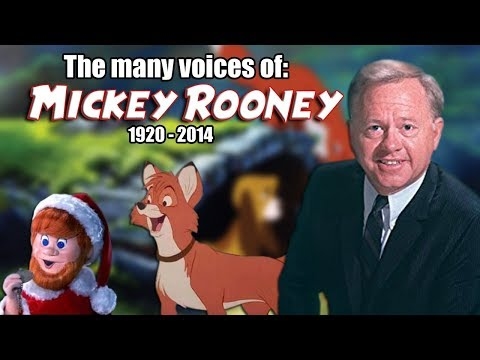Many Voices of Mickey Rooney Animated Tribute  The Fox and the Hound