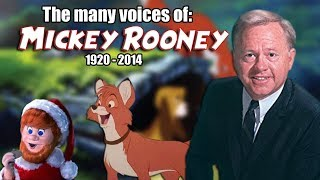 Many Voices of Mickey Rooney (Animated Tribute - The Fox and the Hound)
