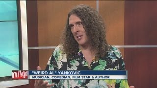 weird al yankovic visits kjrh studio on 25th anniversary of uhf filming in tulsa