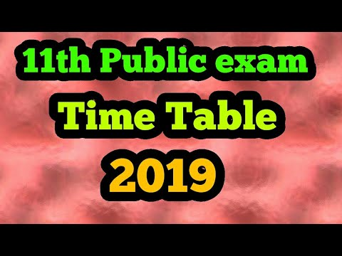 11th public exam time table 2019
