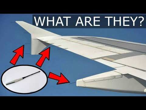 """Strange """"Antennas"""" on the wing? Aviation + static electricity and more!"""
