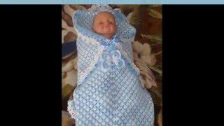Вязаный конверт для новорожденного тепло и уютно малышу