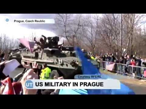 US Military in Prague: US army convoy arrives from Poland on its way to Germany