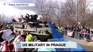 US Military in Prague: US army convoy arrives from Poland on i…