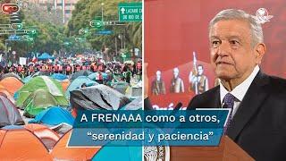 """El Presidente Andrés Manuel López Obrador reconoció el trabajo de Claudia Sheinbaum, jefa de la Gobierno de la Ciudad de México, por """"no caer en provocaciones"""""""