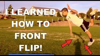 I Learned How t๐ FRONT FLIP in 2 MINUTES!!