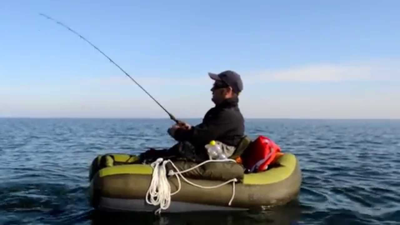 Belly boot angeln auf der ostsee und den bodden gew ssern for Belly boat fishing