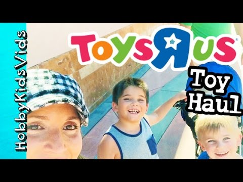 Toys R Us Toy Haul! Minions, Back to School + SpongeBob Dinosaurs HobbyKidsVids