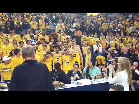 Michigan basketball Hail to Victors