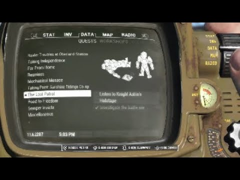 """Let's Play: Fallout 4 [Hard] Side quest - The Lost Patrol """"Scribe Faris"""" (no commentary)"""