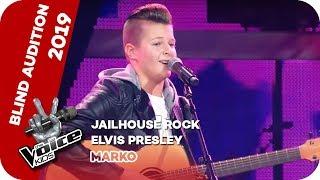 Elvis Presley - Jailhouse Rock (Marko)   Blind Auditions   The Voice Kids