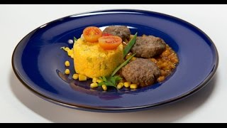 видео Полента с мясом и грибным соусом