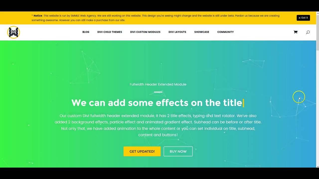 Fullwidth Header Extended – Divi Web Design