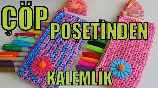 ÇÖP POŞETİNDEN KALEMLİK FİKİRLERİ! KENDİN YAP - (How To Make Pencilcase) - DIY Pencilcase
