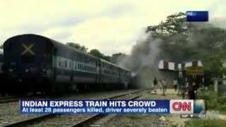 Express hits crowd at India train station killing at least 28