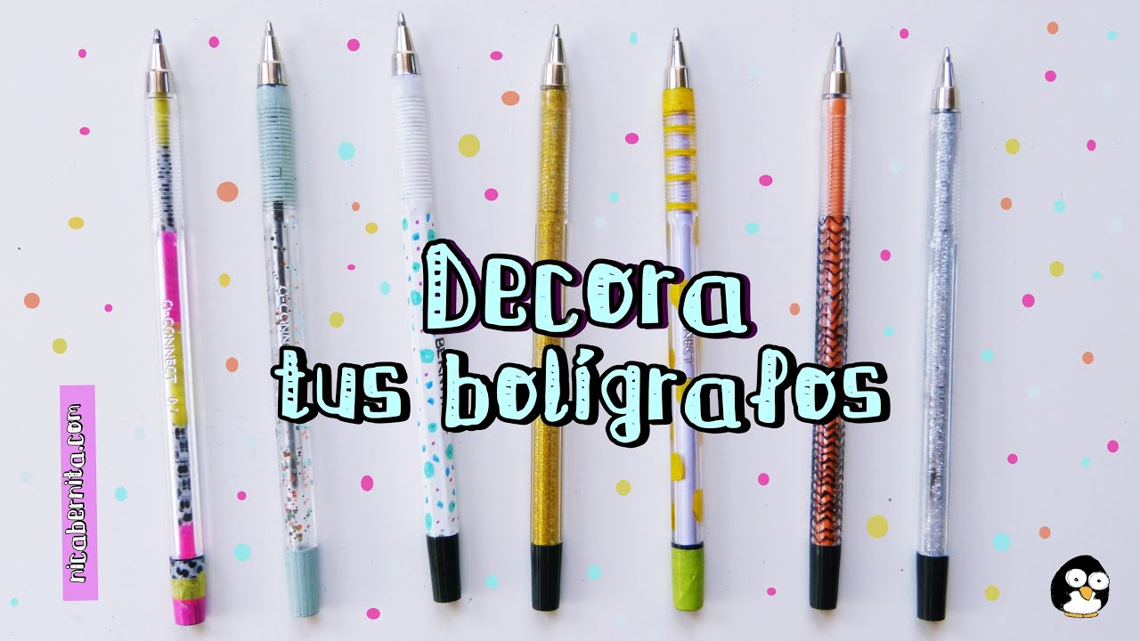 cmo decorar bolgrafos plumas o lpices regreso a clases nica bernita youtube