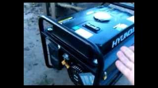 Видео генератор Hyundai HHY2200F, предпродажный запуск смотреть