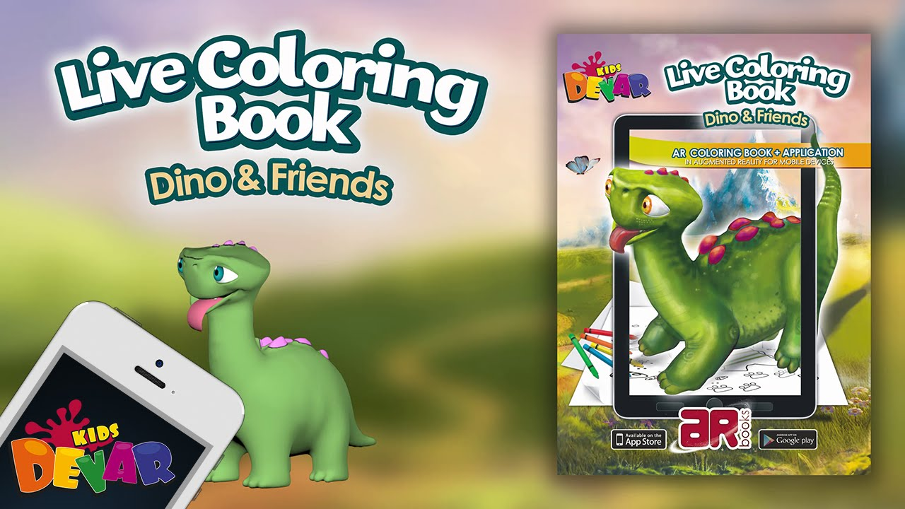 Dino Friends Augmented Reality Coloring Book