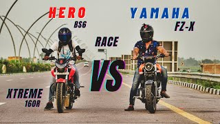 Yamaha Fz-X Vs Hero Xtreme 160r Bs6 Race | Amazing Experience | Ksc Vlogs